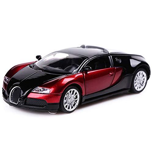 LLDKA Plantilla de automóvil Modelo de Coche 1:32 Moldeo a presión analógico Aleación, Sonido y luz, Pull Back Modelo de Coche 13.6x6x4cm Modelo de automóvil,Rojo