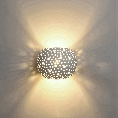 Wandleuchten LED Innen Gips Lampe Modernes 5W Design Auf und Ab Innenwand Leuchten Runde Kugel Form Warmweiß (umfassen G9 Lampen)