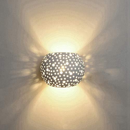 Wandleuchten LED Innen Gips Lampe Modernes 5W Design Auf und Ab Innenwand Leuchten Runde Kugel Form Warmwei? (umfassen G9 Lampen)
