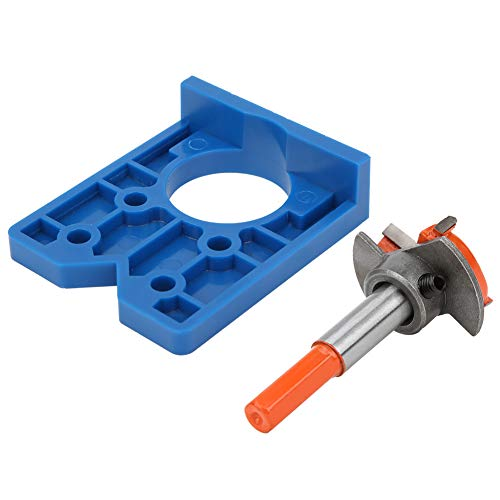 Cerniera in plastica ABS Bore Jig Drill Guide Hinge Jig Kit 35mm Hole Drill Kit Door Hole Opener Lavorazione del legno Durevole per hobbisti