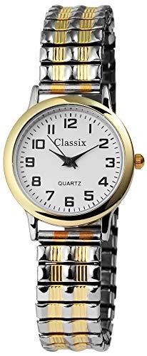 Classix Damen – Uhr Zugarmband Metall Armbanduhr Analog Quarz 1700011