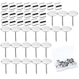 Tecmisse 20 Set Magnetic Pushpin, Magnetic Thumb Tacks, No Hole Tack to Hang Pictures, Posters for...