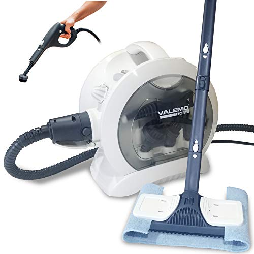 Valemo VH-ST20 Heavy-Duty Multipurpose Floor & Surface Steam Cleaner with Complete Set of Attachments for Cleaning a Variety of Surfaces; for Home, Auto, RV & Boat Steam Cleaning