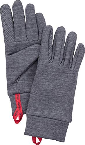 Hestra Touch Point Warmth Liner - Machine Washable, Touch Screen Compatible Liner for Additional Layering or as a Thin Glove - Grey - 10