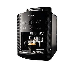 Krups EA8108 Espresso Kaffee Vollautomat mit CappuccinoPlus Milchdüse, schwarz