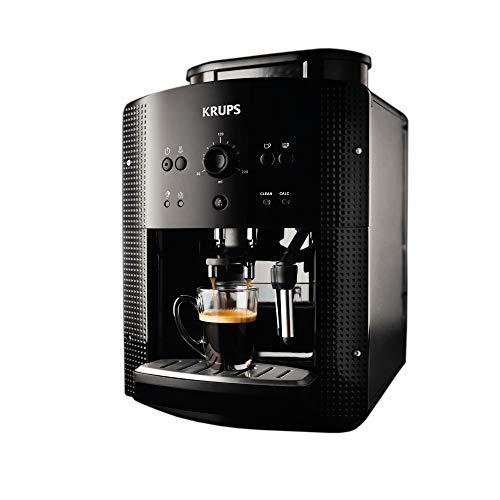 Krups EA8108 Roma - Cafetera Superautomática, 15 bares, molinillo de café cónico de metal, con selección de cantidad e intensidad de café, boquilla de vapor, 2 boquillas, incluye kit limpieza
