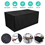 HOCOSY Funda Muebles Jardin Impermeable,Protector Mesa Apilables, Anti-UV...