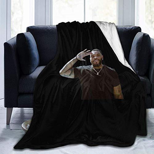 Yaxinduobao Manta suave Kevin Gates ligera súper suave y acogedora manta de cama de microfibra de 127 x 101 cm
