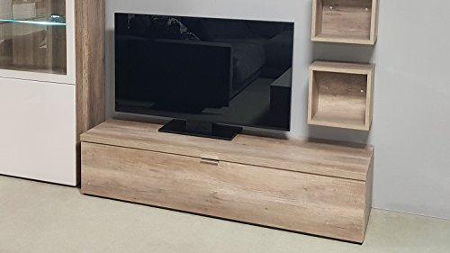 Möbel Akut Lowboard TV Board 11 Cleo von CS Schmal Wildeiche 1 Klappe 163 cm breit TV-Teil