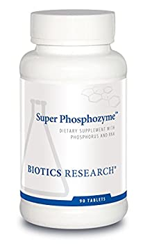 Biotics Research Super Phosphozyme™ –Phosphorous and RNA Electrolytes Healthy Bones and Teeth Protein Production Energy Support 90 Capsules