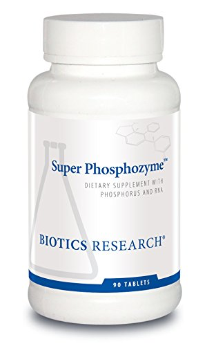 Biotics Research Super Phosphozyme™ –Phosphorous and RNA, Electrolytes, Healthy Bones and Teeth, Protein Production, Energy Support. 90 Capsules