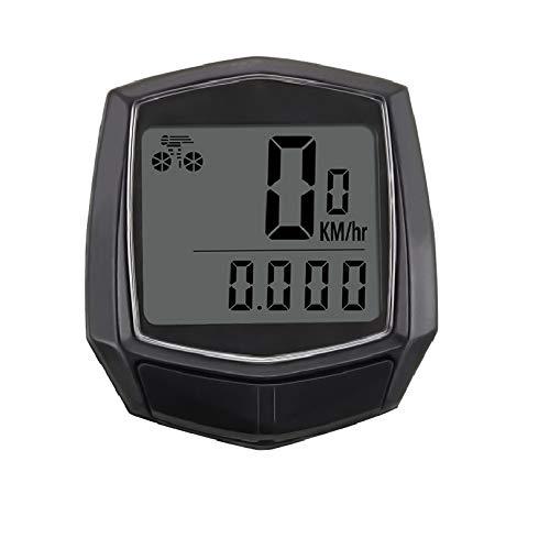iPobie Velocímetro para Bicicleta, Cuentakilómetros para Bicicleta, Velocímetro inalámbrico para Bicicleta con Pantalla LCD de retroiluminación, Impermeable, Contador de Velocidad