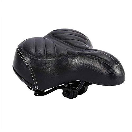 Fietszadel Fietszadel comfortabele brede Grote zetelfiets Cruiser Extra for elke zetelfiets Pad Type Geschikt Soft van Saddle Sporty T2V3 (Color : Black)