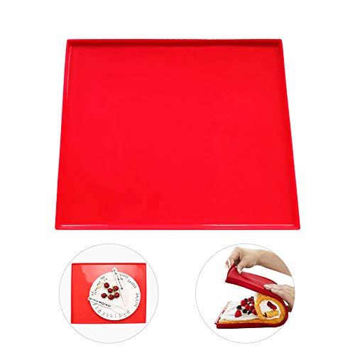 hangnuo silicona antiadherente Swiss Roll & Roulade Horno 31.5x27x0.9CM color rojo
