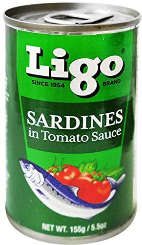 Ligo SARDINES in TOMATO SAUCE いわしのトマト煮 155g (5個)