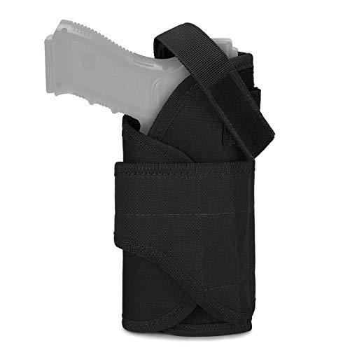 Huntvp Funda de Pistola Táctica para Diestros Funda de Cinturón Militar para Pistolas MOLLE Nailon Impermeable para Hombres Deportes Airsoft Paintball Outdoor, Tipo 4-Negro