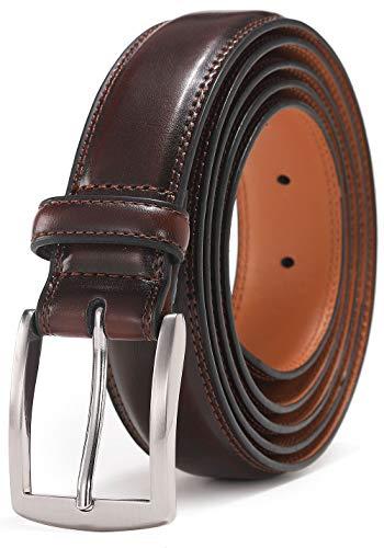 "Mens Belt, Autolock Genuine Leather Dress Belt Classic Casual 1 1/4"" Wide Belt With Single Prong Buckle"