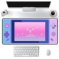 ゲーミングマウスパッド コンピュータマウスパッドゲーマーガール紫デスクマットかわいいピンクかわいいゲームパッドパッドゲームパッド Pc 1000MMx500MM