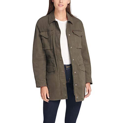 Levi's Damen Baumwolle Vier Taschen Oversized Military Jacke - Grün - X-Small