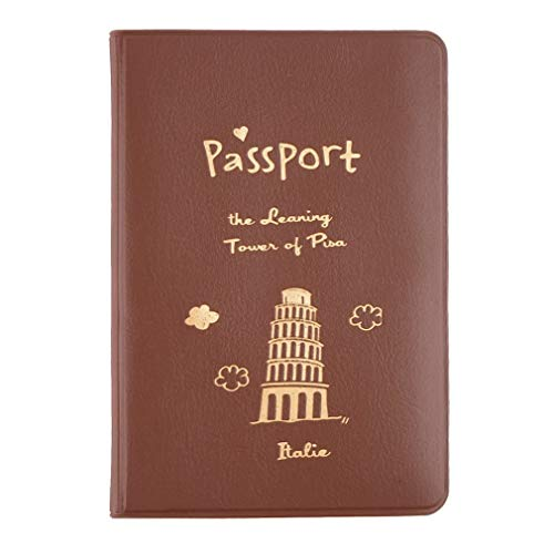 New Travel Passport Holder Protect Cover Case Card Ticket Container Pouch Coffee Color