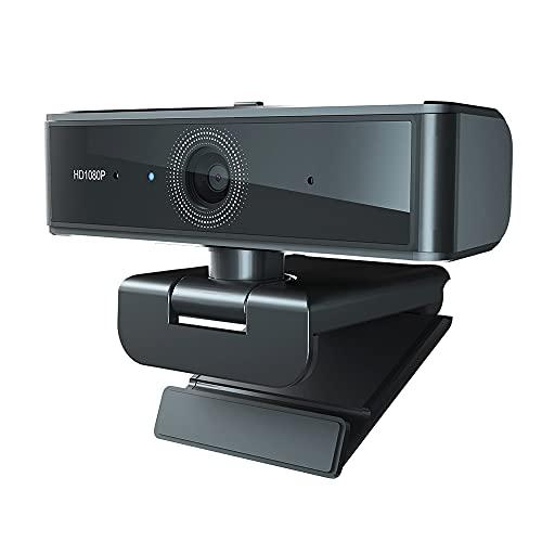 CHENPENG Cámara Web Full HD 1080P con Micrófono, Cámara De Escritorio para Computadora Portátil, Videollamadas Plug and Play para Transmisión En Vivo, Zoom,...