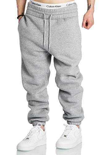 Amaci&Sons Herren Baggy Sporthose Trainingshose Jogginghose Sweatpants Jogger 2017 Hellgrau XL