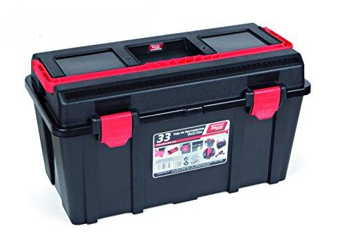 Tayg Werkzeugkasten aus Kunststoff Nr.33 Werkzeugkoffer No 33/480 x 258 x 255 mm/schwarz-rot