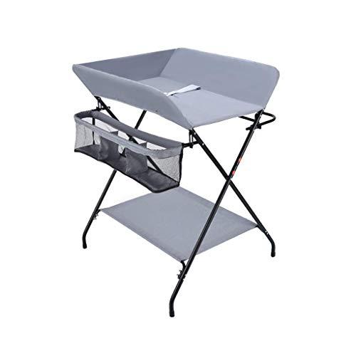 LZQBD Family Care/Wickeltisch mit großem Stauraum Faltbare Baby-Dresser -Tisch, Changer Station for 0-3 Jahre alt Kinder Organizer mit Kreuzbein Stil (Color : A)