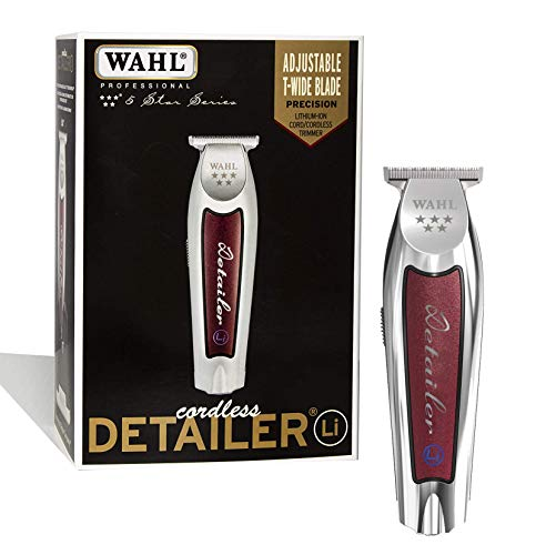 Wahl Professional - 5-Star Series Cordless Detailer Li Extremely Close Trimming, Crisp Clean Line, Extended Blade Cutting, 100 Minute Run Time for Professional Barbers - Model 8171