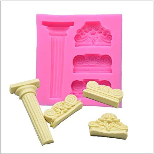 ANNIUP Moldes de silicona 3D para fondant, columnas romanas griegas de mármol columna, molde vintage para fondant para decoración de tartas, decoración de pasteles, decoración de magdalenas, chocolate
