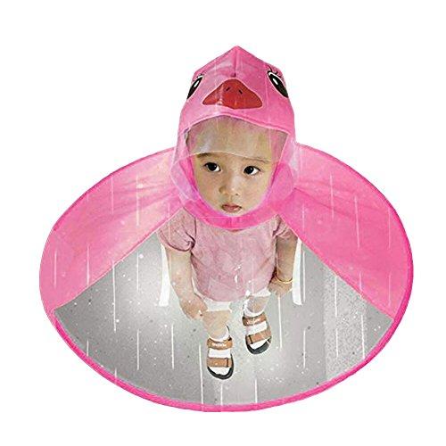 WFZ17 Chubasquero para niños con forma de ovni para lluvia, plegable, diseño...