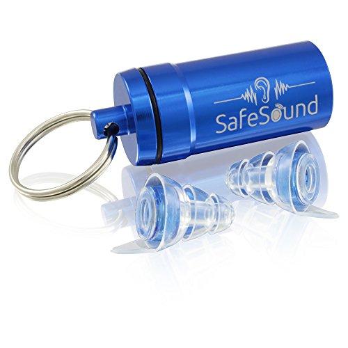 SafeSound® Ohrstöpsel für Konzert, Musik, Disco, Festivals und Partys - Erhält Tonqualität & Dämpft Lärm - Bequem und Unsichtbar im Ohr