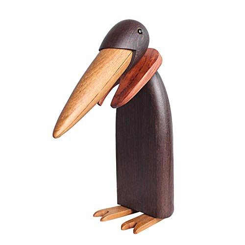 TANGIST Decoración única marioneta de mano emperador pingüino ornamentos creativos minimalistas de madera decoración para el hogar escritorio elegante y hermoso