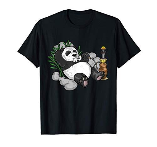 Panda Arabische Wasserpfeife Nargileh Shisha Pandabär T-Shirt