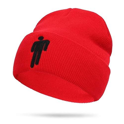 Fashion Beanie Cap Sombreros de Punto Unisex Solid Hip-Hop22 Colores Outdoor Casual Sport Sombrero de Mujer Fan Gifts Drop Shipping - Rojo