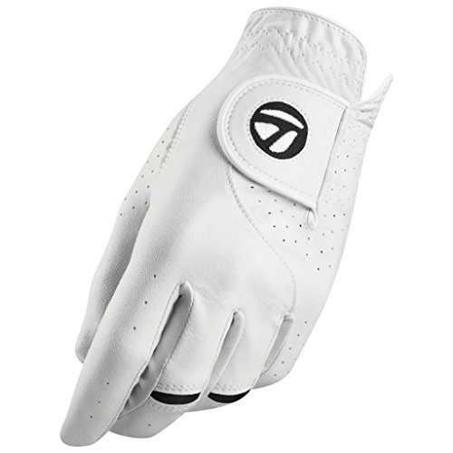 TaylorMade Stratus Tech Glove 2-Pack (White, Left Hand, Medium/Large), White(Medium/Large, Worn on Left Hand)