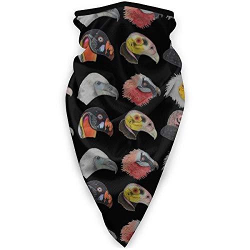 kasonj Cool Geier Vogel Tier Gesicht DIY für Geschenk Bandana Gesicht Hals Gaiter Face Schal Maske Staub, winddicht atmungsaktiv Angeln Wandern Laufen Radfahren