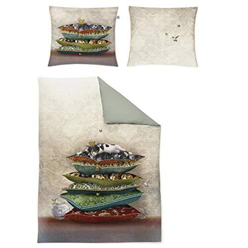 Irisette Mako-Satin Bettwäsche Juwel K Katze 1 Bettbezug 155 x 220 cm + 1 Kissenbezug 80 x 80 cm