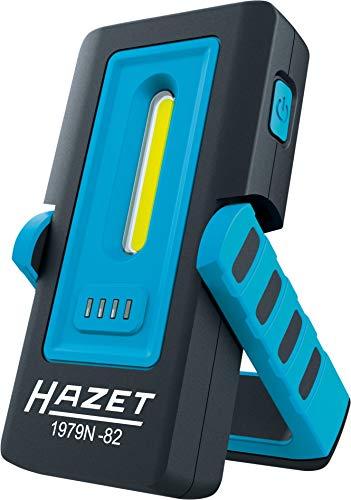 Hazet LED Pocket Light (Lumen: 30-300, Leuchtdauer: 2-10 Stunden, starker Magnet an der Unterseite, Länge: 133 mm) 1979N-82, Schwarz-Blau
