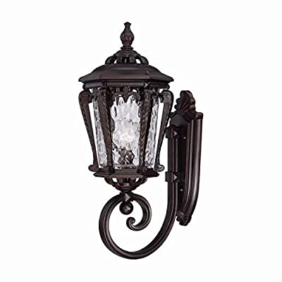 Acclaim 3551ABZ Stratford Collection 1-Light Wall Mount Outdoor Light Fixture, Architectural Bronze