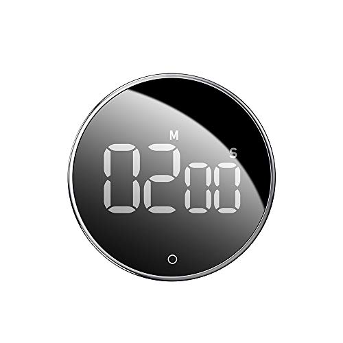 SOOTOP Temporizador de cocina, Digital Temporizador Multifunción de regresiva magnético con pantalla LED grande, volumen y brillo ajustables