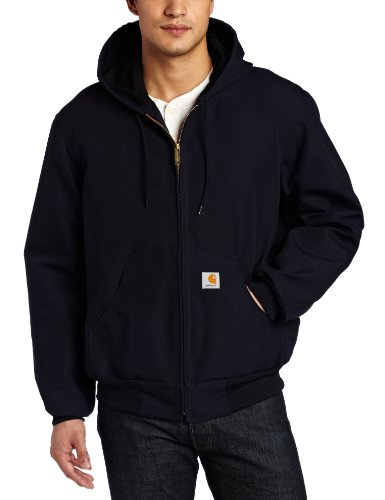 Carhartt Men's Thermal Lined Duck Active Jacket J131 (Regular and Big & Tall Sizes), Dark Navy, Large