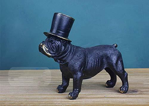 Ertyuk-Decor Sculture Statue Soprammobile Statuine Bulldog Inglese Decorazione Terrier Cane Modello Decorazione Decorazione della Casa Regalo di Nozze Lotta Inglese