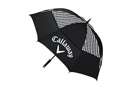 "Callaway Golf 2017 Women's Umbrellas 60"" Double Canopy, Black/White"