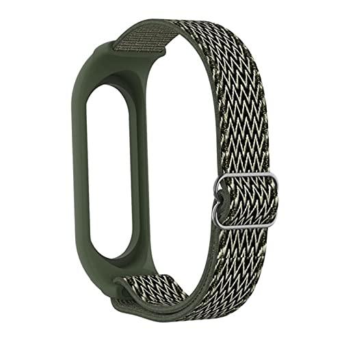 Para Mi Band 4/5/3 Correa Para Mi Band 6 Pulsera Elástico ajustable Nylon Solo Loop Reemplazar las correas de la pulsera