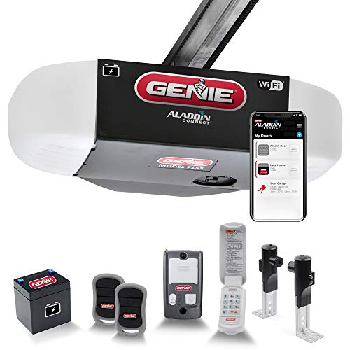 Genie StealthDrive Connect Model 7155-TKV Smartphone-Controlled Ultra-Quiet Strong Belt Drive Garage Door Opener, Wi-Fi & Battery, Backup - Works with...