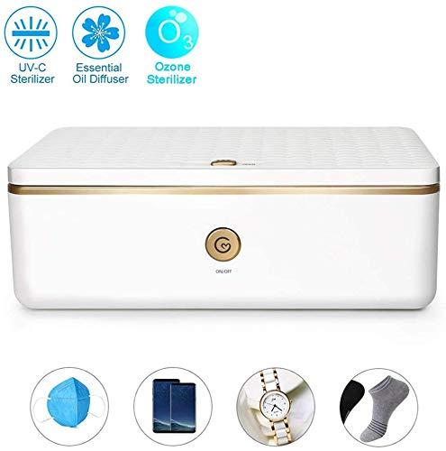 HYDDG UVsterilisator Box, Ozon Automatische Desinfektion Box Professional UV Box Multifunktionale UV-Sterilisator für Telefon-Schmuck Brille Maske, entfernt 99,99% Bacteria