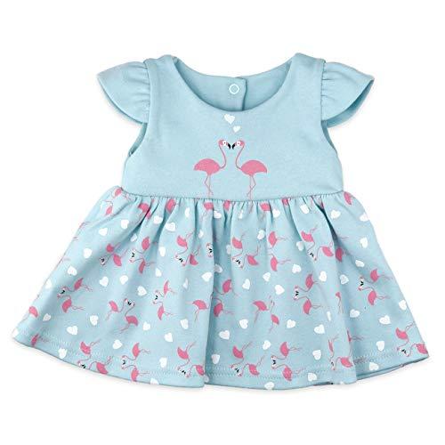 Baby Sweets Baby Mädchen Kleid in Türkis-Rosa im Motiv Made with Love für Neugeborene und Kleinkinder/Kinder-Kleider und Babykleidung für Mädchen in der Größe: 0-3 Monate (62)