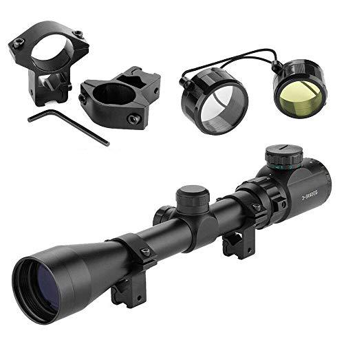 YINGXI Zielfernrohr Gewehrzielfernrohre Schiene mit 11mm Montage Luftgewehr Rifle Scope Rot Und Grün Punkt Rangefinder Scope für Jagd und Sport (3-9x40EG, 11mm Montagen)