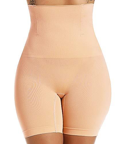 SLIMBELLE Mujer Pantalones Cortos Moldeadores Cintura Alta Braguita Adelgazante Braga Faja Reductora Invisible Body Moldeador para Adelgazar